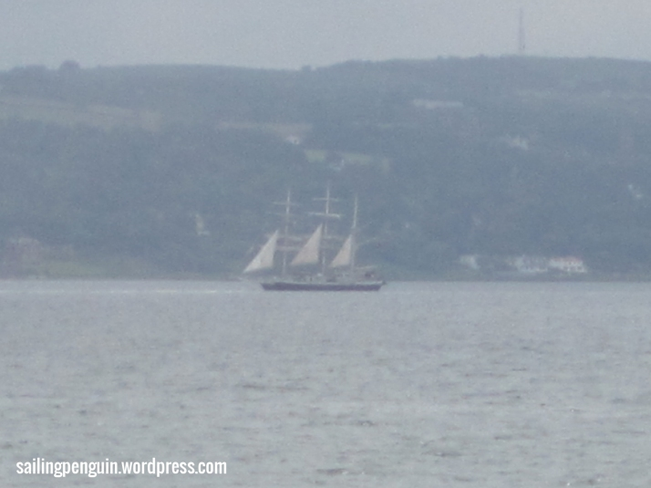 The Lord Nelson in Belfast Lough, Taken from Carrickfergus, during the parade of sail